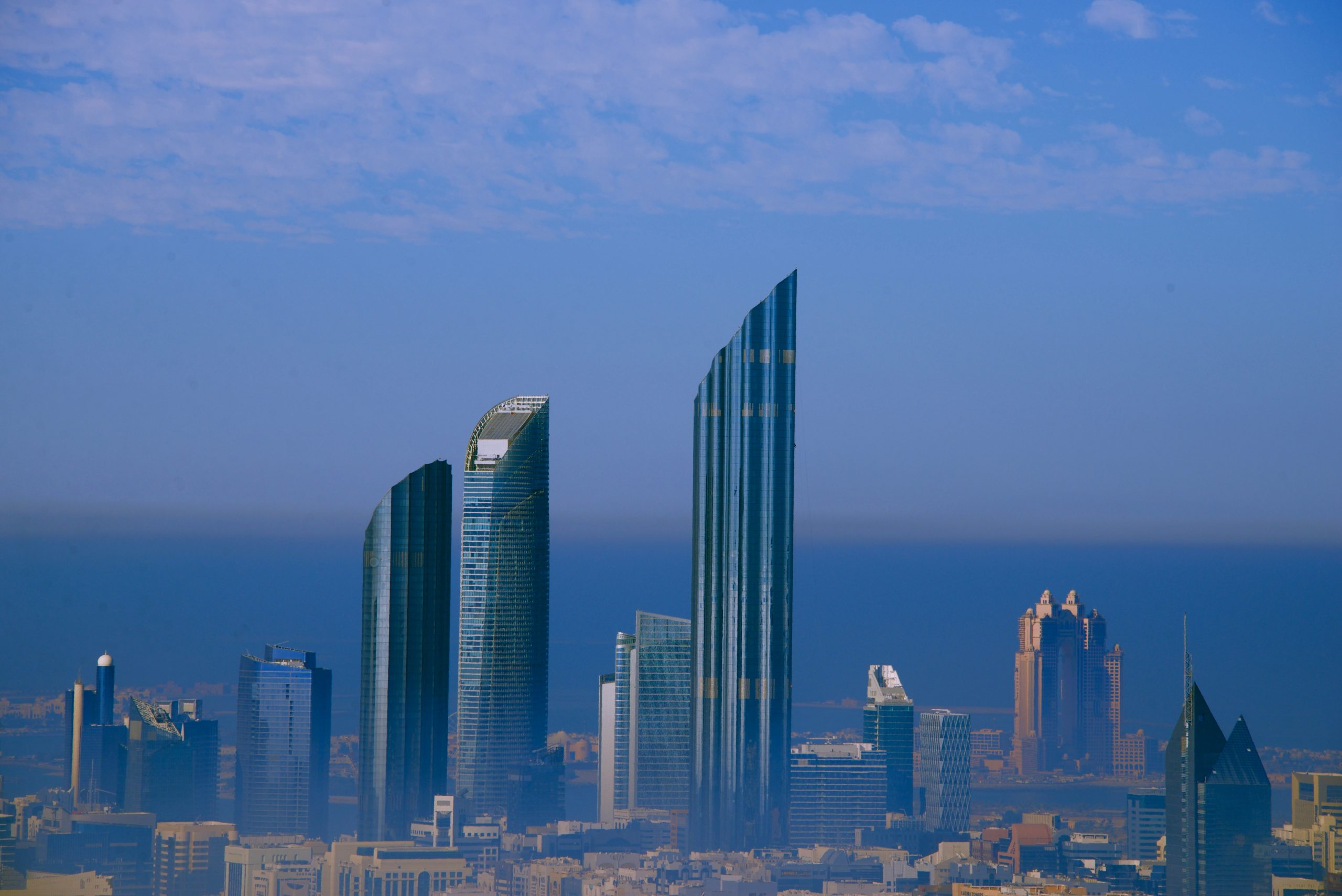 Blick aufs World Trade Center in Abu Dhabi