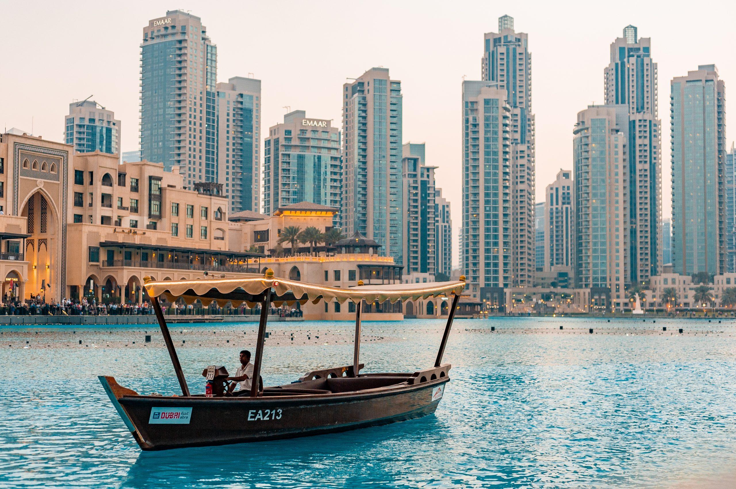 Blick auf Dubai Downtown